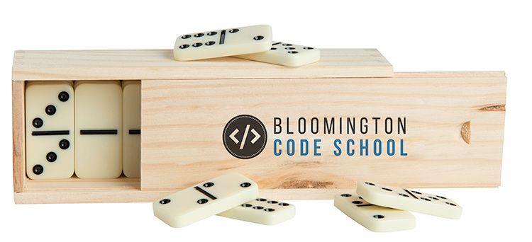 Large Dominos in Wooden Box 24481
