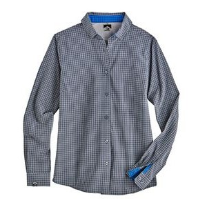 Women's Tonal Check 4-Way Stretch Eco-Woven Shirt