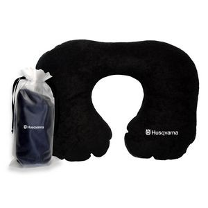 Terry Cotton Inflatable Travel Pillow