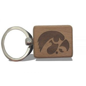 Wood Key Chain - 64mm x 40mm